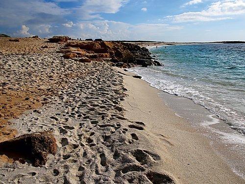 Is Arutas Strand, Sardinien 1000 Teile Puzzle quer