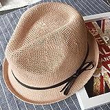 BTBTAV cap Bambini Estate Marea Coreana di Inghilterra tetti Piani e Small cap ombrellone Jazz Il Filtro Bow Tie-Hay (56-58cm Cappelli, m), Rosa in Pelle