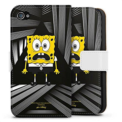 Apple iPhone X Silikon Hülle Case Schutzhülle Spongebob Fanartikel Merchandise Spongebob Schwammkopf Sideflip Tasche weiß