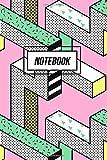 Notebook: Retro 90s Geometric Illusion Notebook | Memphis Design: Volume 10 (90s Nostalgia Gifts)