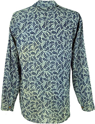 Goa Hippie Hemd, Herrenhemd / Männerhemden Blau