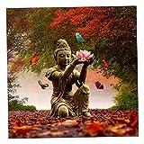 Homyl 5d Diamant DIY Kreuzstich Stickerei Malerei Bild- Auswählbar - Kniender Buddha Lotus