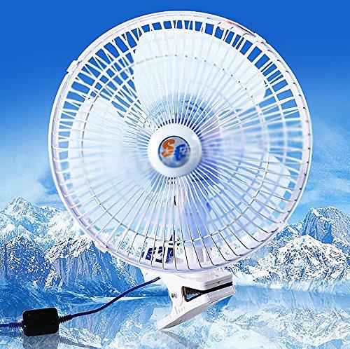 QXXZ Auto Kfz Lüfter,Auto Ventilator, Gebläse Klimaanlage Fan, Doppellüfter, Einstellbar Ventilator,12V - Gebläse Motor Weniger