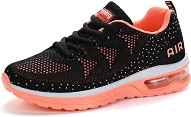 Scarpe da Ginnastica Uomo Donna Sportive Sneakers Running Basse Basket Sport Outdoor Fitness-BlackOrange34