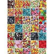 Klebefolie Candy bunt Möbelfolie Süßigkeiten Dekor 45x200 cm Dekorfolie Retro