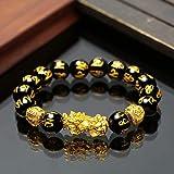Braccialetto fortunato, Feng Shui Wealth Bracelets Ricchezza Obsidian pietra borda il braccialetto donne degli uomini unisex