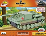 Cobi 3020 Nano Tank Su-85, World of Tanks, 63 Bausteine