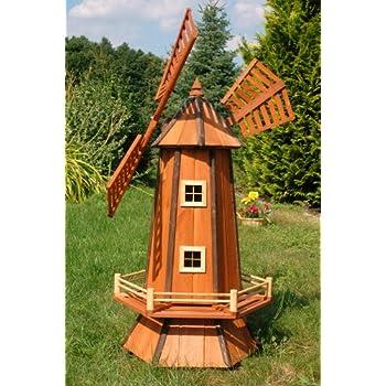 Windmühle Aus Holz Kugelgelagert 10 M Bitum Dunkel Mit Beleuchtung