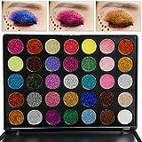 Valuemakers Professionale 35 Farben Glitter Powder Makeup Palette Lang Anhaltende und Mineral Eyeshadow Lidschatten Palette Hoch Pigmente