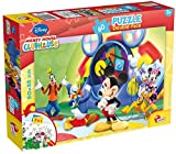 Lisciani - Mickey Mouse Puzzle 60 Piezas & Doble Cara coloreable - 50x35 cm (ColorBaby 42660)