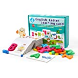 Alphabet Flash Cards, Words Learning Card English Letter for Toddler First Words Literacy Card Word Cognitive Early Education
