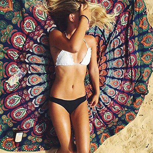 Xinan Round Strand Pool Home Duschtuch Decke Tischdecke Yoga-Matte (4)