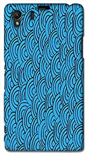 Timpax Light Weight Hard Back Case Cover Printed Design : Colourful Pattern.Specifically Design For : Sony L39-H ( Sony 39 )
