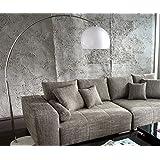 Lampe Lounge Bigdeal Weiss 180x190 cm höhenverstellbar Bogenleuchte