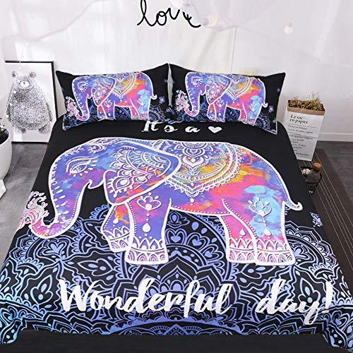 YWEIWEI 3D Bettwäsche Duvet Set 3 Stück Animal Print Mikrofaser Geschenk (1 Bettbezug + 2 Kissenbezüge) Full(203cm*228cm) -