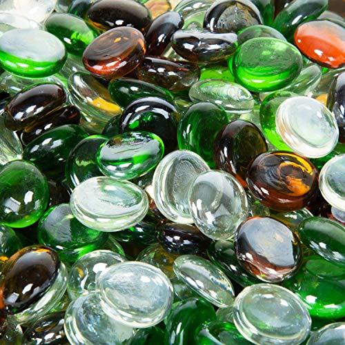 Stanbroil 4,5 kg 1/2 Feuerglas Tropfen Smaragdgrün, Kristalleis, Karamell-Lack für Innen- und Außenbereich, Gasfeuerstellen und Kamine -