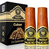 Cuban Flavour | NUCIG-R Replacement Pack of 2 Filters | VG Premium Base | for NUCIG Rechargeable Electronic Cigar | Electric ecigar | e Cigar | Ecigarette | Electronic Cigarette | Electric Cigarette