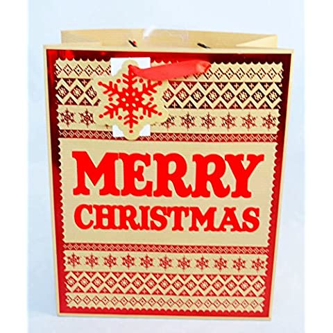 Grande Buon Natale regalo borsa Fair Isle