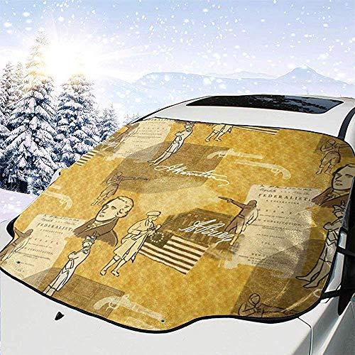 C-WANG Alexander Hamilton Windschutzscheibe Schneedecke Magnetische große Autoplanen mit Materialschutz - Passend für jedes Auto