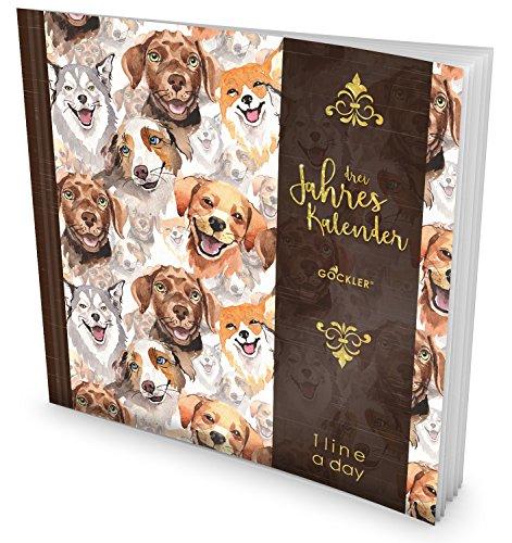 GOCKLER® 3 Jahres Kalender: 190+ Seiten Journal für 3 Jahre    Glänzendes Softcover    Ideal als Tagebuch, Terminplaner, Notizkalender oder Tagesplaner    DesignArt.: Hundemotiv (3-jahres-planer-kalender)