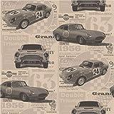 Brewster FD40392 - Vintage Cars Wallpaper - Oro