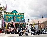 Kuamai 3D Fototapete Route 66 Auto Shop Werkstatt Hintergrund Wall City Street View Wallpaper Bar Restaurant Wandbild-400 X 280 Cm