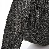 10m calor, Color negro Protectora de cinta (25mm de ancho) + 10V2A bridas (250mm de longitud)