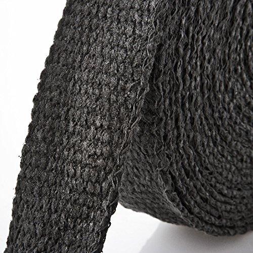 15m Keramik Hitzeschutzband schwarz ( Breite: 25mm )