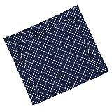 Sugarapple Wickelauflage 85 x 75 cm ca. 3 cm dick mit Oberstoff aus 100% Baumwolle, innen weich und warm wattiert, doppelt abgesteppte Nähte und machinenwaschbar, Punkte dunkelblau