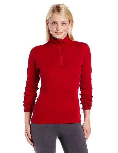 Minus33 Merino Wool Women's Sequoia Midweight 1/4 Zip, True Red, X-Small -