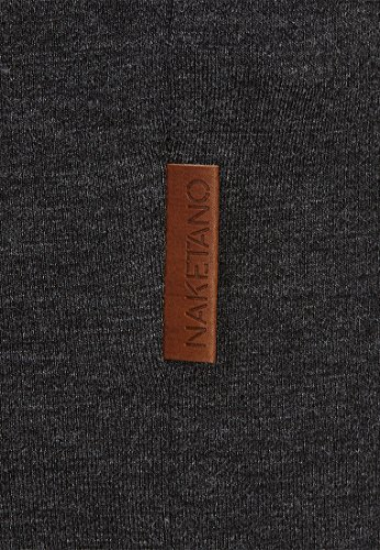 Naketano Female Shortsleeve Immer Am ballern II Anthracite Melange - Black