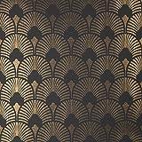 Arthouse à coller au mur Chareau ventilateur Motif paillettes de vinyle papier peint 671500–Doré/noir, Doré et noir, Full Roll