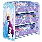 Aufbewahrungsregal - Spielzeugkiste - Spielzeugtruhe - Disney Regal 6 Boxen mit Motivauswahl (Frozen)