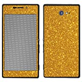 atFolix Sony Xperia M2 Skin FX-Glitter-Golden-Fleece Designfolie Sticker - Reflektierende Glitzerfolie