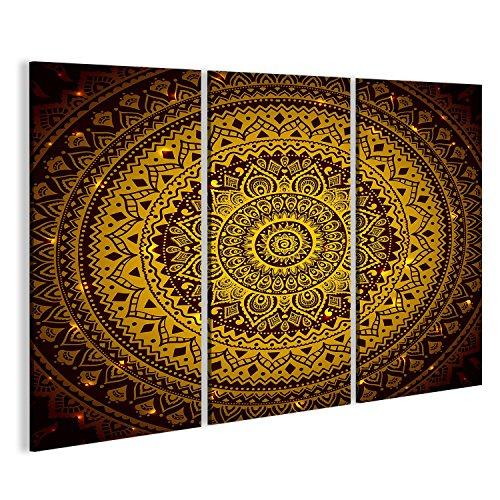 Cuadro Cuadros Impresión sobre lienzo - Formato Grande - Cuadros modernos Mandala Modelo indio