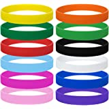 GOGO 12 pièces bracelets en silicone pour Enfants, bracelets en caoutchouc, Garçon fille bracelets, articles de fête - Couleu