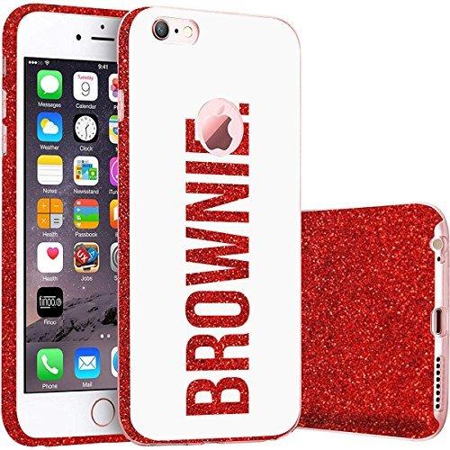 finoo | iPhone 5 / 5S Rote bedruckte Rundum 3 in 1 Glitzer Bling Bling Handy-Hülle | Silikon Schutz-hülle + Glitzer + PP Hülle | Weicher TPU Bumper Case Cover | Queen Black Brownie White