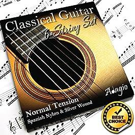 Adagio – corde serie Pro, per chitarra classica e flamenca, tensione normale, in nylon
