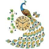 YIWANGO Reloj De Pared De Estilo Europeo Reloj De Sala De Estar Personalidad Creativa Reloj De Arte Moderno Reloj Decorativo Reloj De Pared Mudo Reloj De Cuarzo