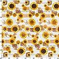 Wachstuch Wachstischdecke Wachstuchtischdecke abwaschbare Tischdecke Sonnenblumen Sommer Weizen Gelb Größe wählbar von ANRO bei Gartenmöbel von Du und Dein Garten