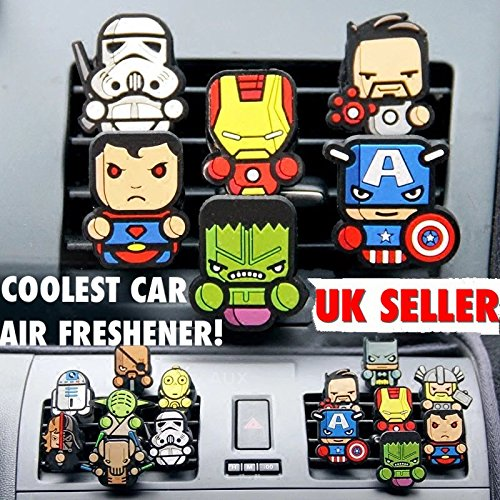 Image of 2 x Coolest Novelty Car Air Fresheners! Marvel Avengers, Game Of Thrones, Deadpool, Antman, Star Wars, Batman, Superman, Hulk, Thor, Ironman, Captain America, Black Widow, Hawkeye, Ninja Turtles...Transform Your Boring Car Into The Coolest Car In 60 Seconds! FREE DELIVERY IN 2 TO 3 DAYS!