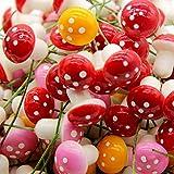 Demarkt 60x Miniatur Simulation Pilze für Blumentöpfe Deko Bunt