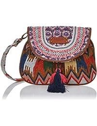 LIBERTO 170606, Bolso Bandolera para Mujer, Varios Colores (Multicolor), 2.5x17x22 cm (W x H x L)