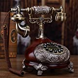 Antike Vintage Festnetztelefone, Wähleinstellungen schnurgebundene Telefone, Retro-Drehscheibe Telefon mit Harz Körper, Home/Office Zubehör Dekor
