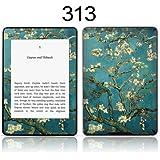 TaylorHe Skin Folie Sticker Aufkleber mit bunten Mustern für Kindle Paperwhite Made in England blau / grün Blüte Baum