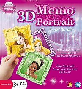 Disney Princess 3D Memo Portrait Game - Puzzle 3D Princesas (Toys&Games WFI01099) (Importado)