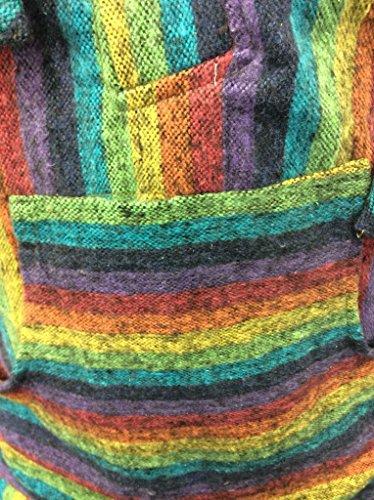 SHOPOHOLIC FASHION Herren Kapuzenpullover * One size Rainbow Mix