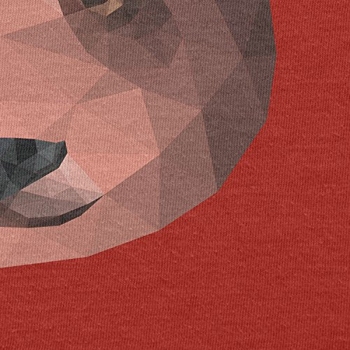 TEXLAB - Polygon Bearface - Damen Kapuzenpullover Rot