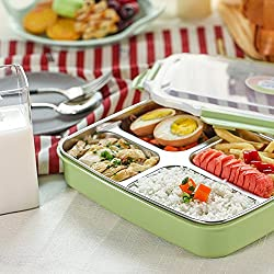FWQPRA Stainless Steel Bento Box Kids Container For Food Storage Microwave Lunch Boxs For Children Picnic Camping