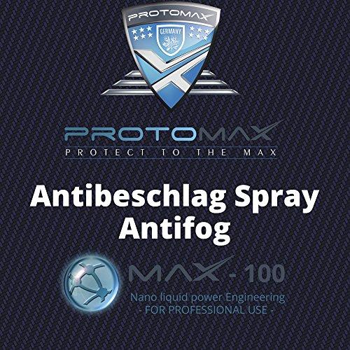 PROTOMAX Nano Antibeschlag Spray (Antifog) für Spray für Brillen, Sonnenbrillen & Brillengläser (100 ml)